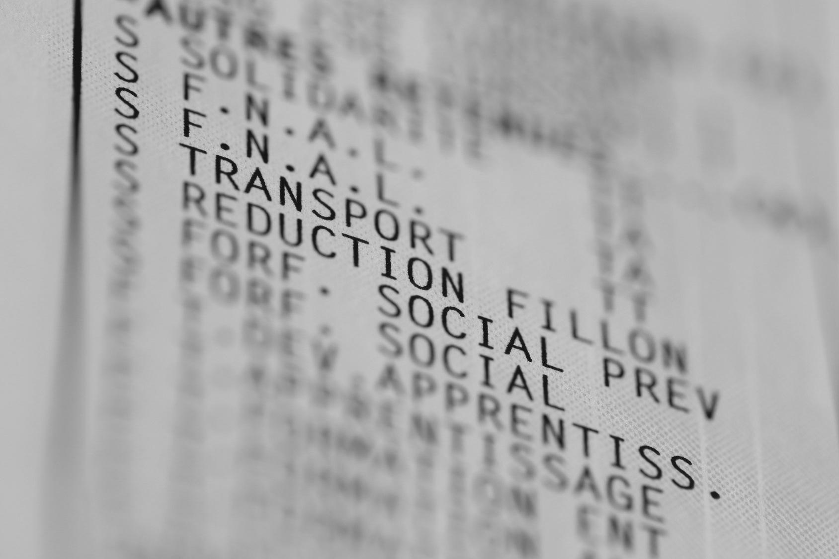 Fiche paie transport Bulletin : Réduction Fillon